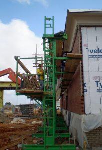 Adjustable mason scaffold