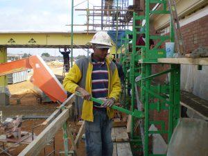 Jack up scaffolding system