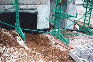 Bricklayer scaffolding