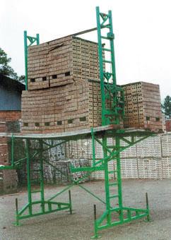 Heavy-Duty elevating scaffold load test
