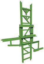Heavy-duty elevating scaffold carriage cutaway