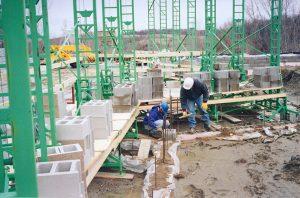 Non-Stop wall scaffolding