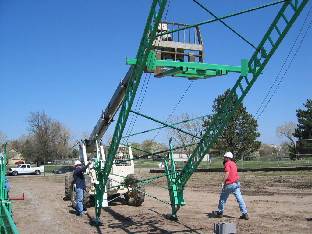 Swivel Forklift Bar for raising scaffolding