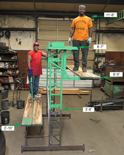 Workhorse elevated scaffolding dimensions