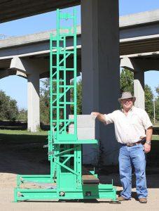 Workhorse elevating scaffolding at ground level