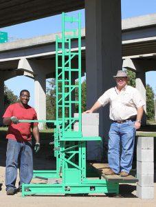 Workhorse elevating scaffolding on walk boards