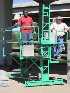 Workhorse scaffolding safety rails